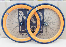 orange -black Single Speed wheelsets Fixed Fixie 700c flip-flop hub wheelset 1!