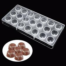 21 Screw Thread Sunflower Shaped Polycarbonate Clear Candy Chocolate Mold Mould