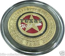 TEXAS HOLD'EM gold color Poker Card Guard Protector