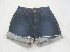 ANTHRPOLOGIE BDG Urban Outfitters Dark Denim High Rise Jean Shorts Sz 24 XS