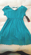 NWT  Oh Baby by Motherhood Maternity  Criss Cross Back Top  Sz. M   Teal  NEW