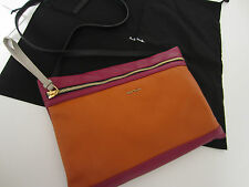 Paul Smith PINK LEATHER HERO CLUTCH BAG Made in Italy RRP £299