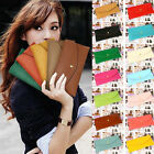 Women Lady Fashion Button Leather Clutch Wallet Purse Credit Card Holder Bag DSS