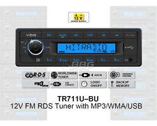 12 volt voiture auto radio, rds-tuner, mp3, wma, usb 12v bleu tr711u-bu (tr7311u-or)