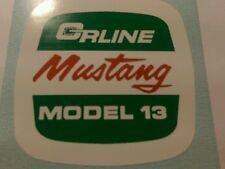 Orline Mustang Model 13 decal vintage chain saw O&R