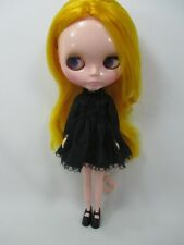 Blythe Outfit Handcrafted long sleeve black dress basaak doll # 790-24