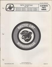 1974 ARCTIC CAT SNOWMOBILE CHEETAH 340,440 + ENGINES PARTS MANUAL(268)