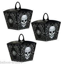 6 Gothic Skull Terror Halloween Party Gift Loot Favour Treat Boxes