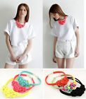 2015 New handmade woven Chinese knot cotton rope Fluorescent color necklace XIUS