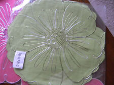 "LILLIAN VERNON Polyester Table Runner LIME GREEN Flower  66"" x11"" NIP"
