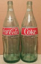 Vintage Coca-Cola Coke 32 oz Glass Bottles-No Bottle Caps 1973