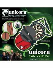 Unicorn Darts On Tour Portable Travel System Dartboard & Ochemate & Short Oche