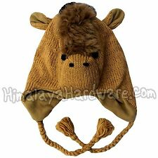 Knit Wool Horse Hat: ear flap geek ears animal womens girls youth adult child