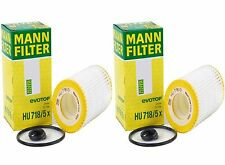 2 Pack Genuine OEM Mann Filter HU718/5x Oil Filter Fleece For Mercedes Benz