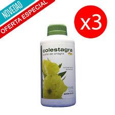 Pack 3 unds COLESTAGRA ACEITE DE ONAGRA 500 PERLAS 515 mg/und SORIA NATURAL