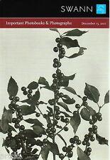 Catalogue de vente aux enchères SWANN 2011 - Important Photobooks & Photographs