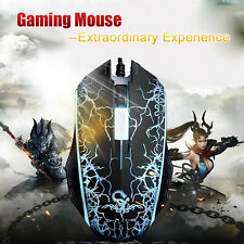 Optische Gaming USB Maus Mouse 1200 DPI mit LED für PC Notebook Computer Laptop
