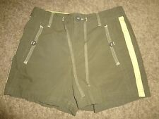 WOMENS SIZE SMALL GREEN ATHLETIC WEAR SHORTS BY SJB ACTIVE DRAWSTRINGS WORK OUT