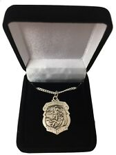 St. Michael Medal Sterling Silver Patron Saint Police Personalized Engraved Free
