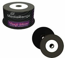 50 x Mediarange Black Bottom Vinyl CD-R White Printable Blank CD 52x 700MB MR226