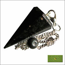 Nuumite Nuummite Point Dowsing Pendulum Crystal Developes Intuitive Abilities