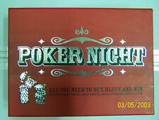Poker Night chips cards cheat sheets & instructions for 14 games