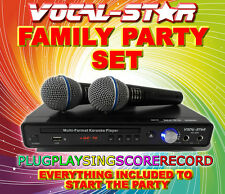 Vocal-star vs-600 CDG DVD USB KARAOKE COMPUTER PLAYER 2 Mics & 300 TOP CANZONI