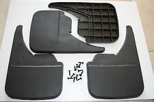 UNIVERSAL MUDFLAPS  Mud Flaps Car Blank Rubber Black Full Set .