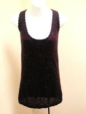 Young Fabulous Broke M Tunic Purple Sequins Tank Top Mini Dress Holiday