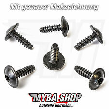 10x Universal Torx Fixture Screw made of metal For VW and Audi N90775001