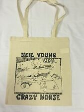 NEIL YOUNG 'CRAZY HORSE' COTTON TOTE BAG