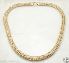 "20"" 23gr Flat Wheat Spiga Woven Chain Necklace Real 14K Yellow Gold QVC"