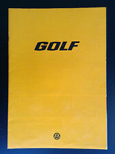 Rare grand Catalogue L GL GTI Golf VW 1977 TBE