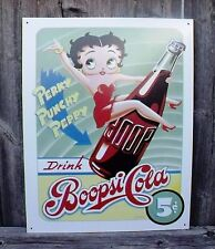 Sign Betty Boop Boopsi Coca Cola Metal Nostalgic Collectible Decorative New