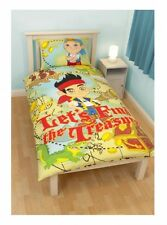 Disney Jake and The Never Land Pirates 'Treasure' Single Bed Duvet Cover Set New