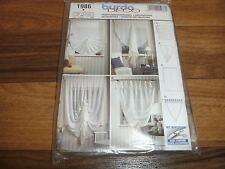 BURDA-DECO Schnittmuster 1986       4x  FENSTERDEKORATIONEN / WINDOW DECORATIONS