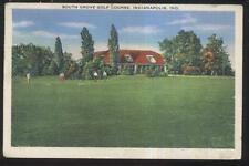 POSTCARD INDIANAPOLIS IN/INDIANA SOUTH GROVE GOLF COURSE COUNTRY CLUBHOUSE 1930s