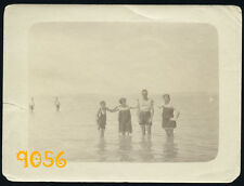 Orig. Vintage Photograph, boys and girls in swimsuit, albumen (?) 1910's Hungary