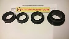 CBR1000RR CBR 1000 2008- 2016 Captive wheel Spacers. Full set. Black