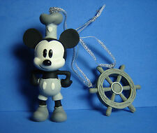 Steamboat Willie and Ships Wheel Disney Sketchbook Christmas 2 Ornament 2016 NEW