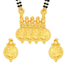 Sukkhi Laxmi Temple Coin Gold Plated Mangalsutra Set For Women(14219M