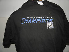 NHL 2004 Tampa Bay Lightning Stanley Cup champions Logo T-Shirt Size 2XL (NWOT)