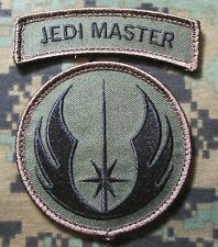 Jedi Master Warrior Patch & Tab Set US Tactical Army VELCRO® BRAND Patch Forest