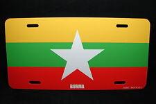 BURMA MYANMAR FLAG METAL NOVELTY LICENSE PLATE TAG FOR CARS