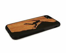 Handcrafted Wood iPhone 6 Case with Soft Rubber Sides by Nuwoods, Rock Climber