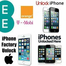 IPhone EE / Orange / T-Mobile UK 3GS, 4, 4S, 5, 5S, 5C, 6,6 + Codice di Sblocco Express