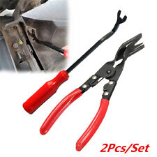 Auto Car Door Card Panel Trim Clip Removal Pliers+ Uphostery Remove Pry Bar Tool