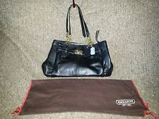 COACH-Chelsea Jayden-Black Leather Carryall 17811-NEAR MINT CONDITION