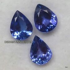 TANZANITE  PEAR  CUT  NATURAL GEMSTONE 9X6 MM AAA EACH