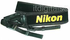 "For Nikon Wide Camera Strap 1.5"" F100 F5 F6 F90 F70 FM New Yellow on Black DSLR"